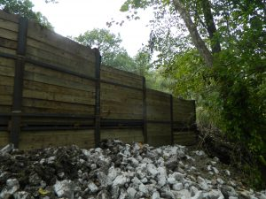 Helical Piles for a Residential Retaining Wall